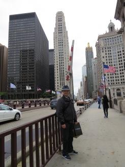 Rob op de Michigan Avenue Bridge